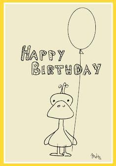 free printable Happy Birthday card – Happy Birthday Karte – freebie   MeinLilaPark – DIY printables and downloads