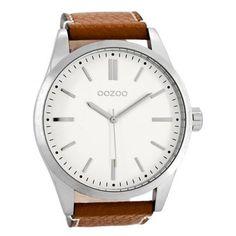 Herrenuhr mit übersichtlichem Zifferblatt zu günstigem Preis:  https://www.uhrcenter.de/uhren/oozoo/timepieces/oozoo-herrenuhr-weiss-braun-c7840/