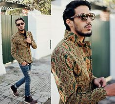 Choies Men's Vintage Embroidery Blazer, Choies Stars Shirt, Balmain, Choies Brown Chocolat, Quay Eyeware Paradise - BLAZER OF THE YEAR - Moh...