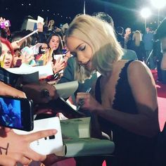 "Jennifer Lawrence at the premiere of ""Mockingjay part.2"" in Madrid, 2015."
