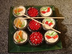 Sushi cupcakes with Candied Nori and a bonus recipe!