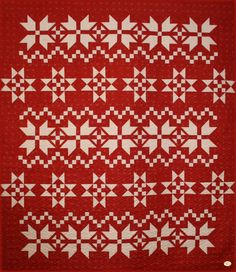 Applique Quilt Patterns, Barn Quilt Patterns, Modern Quilting, Quilting Ideas, Fabric Art, Fabric Crafts, Sweater Quilt, Red And White Quilts, Swedish Christmas