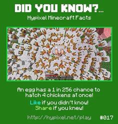 Minecraft did you know! #017