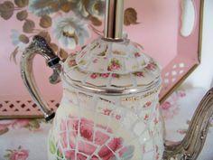 Lavender Hill Studio: Romantisch Mozaïek Theepot Lamp
