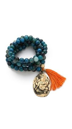ONE by Lead Bead Tassel Necklace / Bracelet -- this can also be double wrapped as a necklace. Sigh...