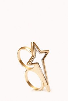 Forever 21 Mirrored Star Two-Finger Ring on shopstyle.com