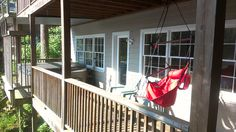 SailAway Lake House deck with my favorite chair.