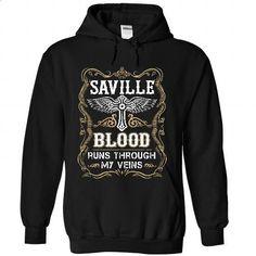 SAVILLE - Blood  - #shirts #vintage t shirt. BUY NOW => https://www.sunfrog.com/Names/SAVILLE--Blood-9206-Black-55915747-Hoodie.html?id=60505