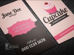 Whimsical customizable cupcake business card bakery pinterest modern psd free cupcake business card template designed in retro style by businesscardjournal reheart Gallery