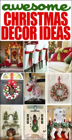 christmas decor ideas: Christmas ornament wreath, Candles on mantel, garland on stairs, and decorated pillow. Christmas Time Is Here, Noel Christmas, Christmas Projects, All Things Christmas, Winter Christmas, Christmas Ornament, Simple Christmas, Christmas Tables, Coastal Christmas
