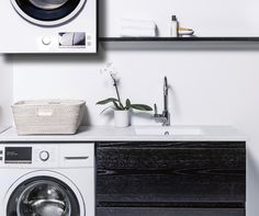 900 Laundry Cabinet with 900 Shelf Laundry Cabinets, Small Bathroom Renovations, Bathroom Furniture, Bathroom Inspiration, Shelf, Home Appliances, Luxury, Design, House Appliances