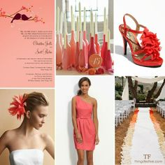 pantone cayenne wedding inspiration board for spring 2014 #wedding #pantone #spring2014 #cayenne #pantonecayennewedding #coral