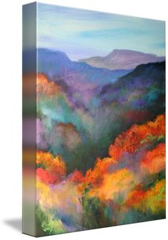 """""""The Hills Are Alive """" by Jonas Gerard, Asheville, NC // High quality gicle print from original artwork by renowned Asheville, NC artist, Jonas Gerard. For more information, visit www.jonasgerard.com or stop by the gallery and studio in Asheville's River Arts District. // Imagekind.com -- Buy stunning fine art prints, framed prints and canvas prints directly from independent working artists and photographers."""