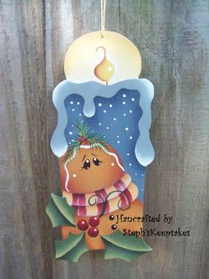 Winter Thyme Candle Ornament Gingerbread