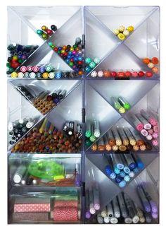 Das kleine Atelier: Tischfeger #1: Stifte, Marker und Co.