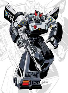 IDW G1 Card - Prowl by GuidoGuidi.deviantart.com on @deviantART  Lots of awesome illustrations by this artist