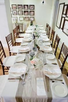 Simple, yet elegant wedding table: http://www.stylemepretty.com/california-weddings/san-clemente/2013/07/25/san-clemente-wedding-from-carly-daniel-photography/ | Photography: Carly Daniel - http://carlydaniel.com/