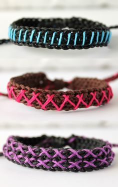 Embroidered Bracelets by It's me Mary.