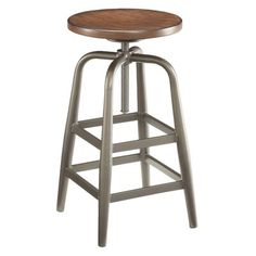 Berger Adjustable Height Swivel Bar Stool