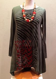Tribal Journey Collection: Olive Cotton Top