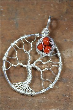 Mother's Tree of Life Pendant with Bird Nest by PhoenixFireDesigns, $60.00