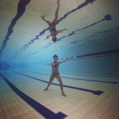 @sweatybetty #healthieselfie playing around with aqua yoga by omdiver