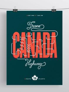 Trans-Canada Highway Poster by Allison Chambers