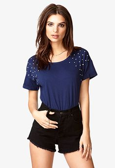 Touch of Glam Rhinestone Tee   FOREVER 21 - 2039767046