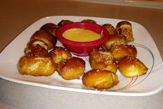 """Soft Pretzel Bites and Cheese Sauce Recipe. This dish was prepared for the subreddit, /r/52weeksofcooking, where the theme was """"concession food"""". Give me any..."""