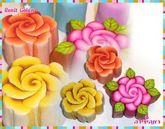 beautiful polymer clay canes.