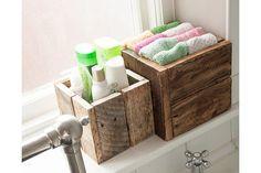 Rustic Wooden Box Bundle   Bathroom Storage, Garden Planters   Vinterior   #21stcentury #industrial