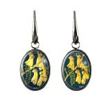 New Zealand Kowhai postage stamp earrings. Made with original postage stamps in a range of hypoallergenic settings. New Zealand Jewellery, Kiwiana, Stamped Jewelry, Postage Stamps, Jewelry Design, Range, Earrings, Gifts, Accessories