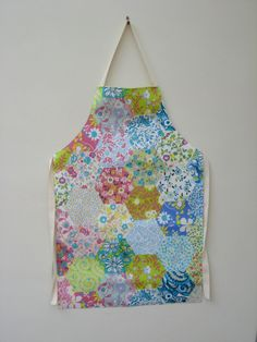 Floral Patchwork Print Adult PVC Apron by OneLeggedGoose on Etsy, £12.50
