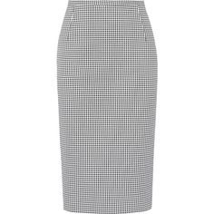 Michael Kors Collection Gingham stretch-cotton pencil skirt (2.443.435 IDR) ❤ liked on Polyvore featuring skirts, michael kors, юбки, black white skirt, gingham skirt, michael kors skirts, black white pencil skirt and pencil skirts