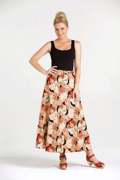 Love That Print ♥ Grace Long Cotton Wrap Skirt - Kimono Print