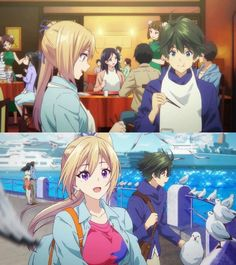 Mai & Haruhiko Tsukiuta The Animation, Magical Warfare, Blonde Anime Girl, Character Art, Character Design, Musaigen No Phantom World, Animes To Watch, Double Picture, Couple