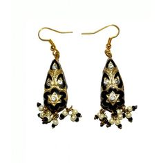 Indirang Prismatic Black Lac Earrings for Women - Online Shopping for Earrings by Indirang
