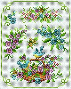 Lots of really cute designs you could work into biscornu. No charts and not in English Cross Stitch Owl, Cross Stitch Needles, Cross Stitch Cards, Cross Stitch Samplers, Cross Stitch Flowers, Cross Stitching, Cross Stitch Patterns, Hardanger Embroidery, Cross Stitch Embroidery