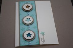 Daniela's Stamp World of Independent Stampin & # Up! demonstrator - Easy Crafts for All Stampin Up Christmas, Christmas Greeting Cards, Christmas Crafts, Merry Christmas, Homemade Birthday Cards, Homemade Cards, Cool Cards, Diy Cards, Star Cards