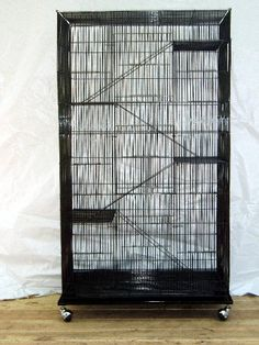 Cages and Enclosure 63108: 5 Level Ferret Chinchilla Sugar Glider Rat Mice Animal Cage Or Bird Black 351 BUY IT NOW ONLY: $104.88