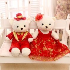 Valentine's Day gift large about wedding teddy bear plush toy couples love bear doll gift proposal gift birthday gift Cute Teddy Bear Pics, Teddy Bear Cartoon, Teddy Bear Toys, Teddy Bear Images, Teddy Bear Pictures, Bear Wallpaper, Images Wallpaper, Tedy Bear, Mickey Mouse Tattoos