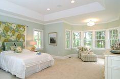 Master Bedroom - walls:Benjamin Moore Prescott green