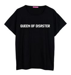 queen of disaster boyfriend T SHIRT WOMENS oversized ladies girl tee top hipster tumblr grunge fun swag dope punk grunge paris beyonce cute - NY Stop Shop - 1