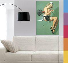 Quadro Decorativo Tela Em Canvas - Pin Up 60x90cm
