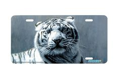 """Airstrike® 3501-""""White Tiger"""" Tiger License Plates"""