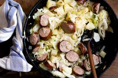 Sausage, potato, and cabbage skillet fry