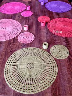 Um dote pitada: Lace Supli para - Erica Crochet Home, Crochet Gifts, Crochet Doilies, Handmade Table, Textiles, Hand Embroidery, Tatting, Coasters, Decorative Plates