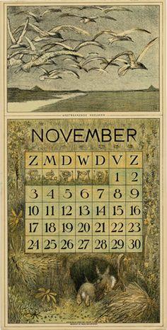 Theodoor van Hoytema, calendar 1912 November