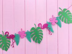 Flamingo del empavesado estandarte de decoración fiesta