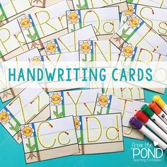 Teaching handwriting + free cards